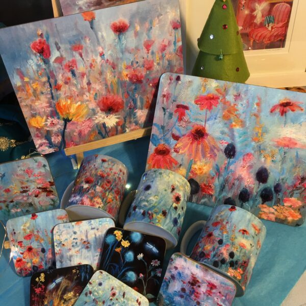 Kate Van Suddese, coasters and placemats floral design