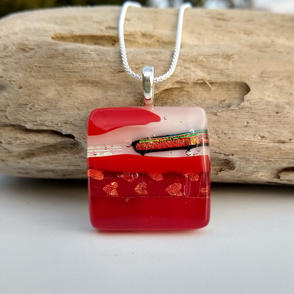 Jewel Glass Cherry pendant