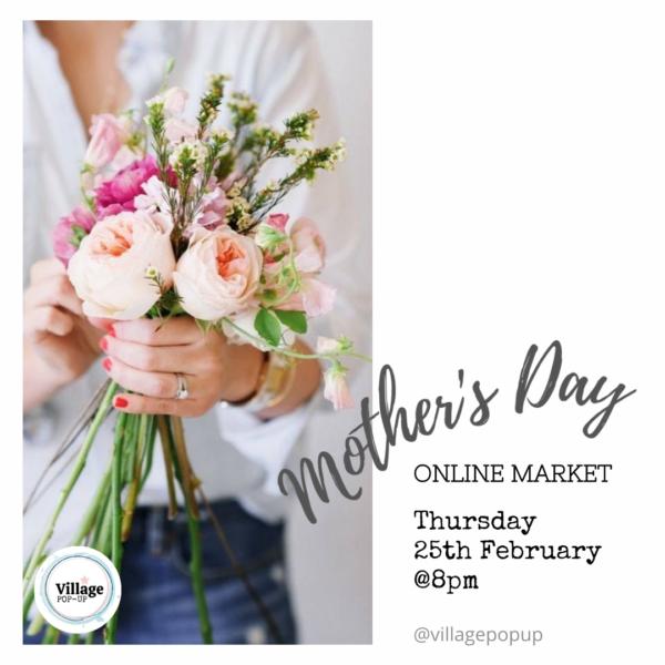 Floral bouquet. Village Pop Up Mother's Day Market