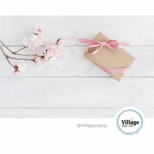 pink blossom. Village Pop Up Mother's Day Market