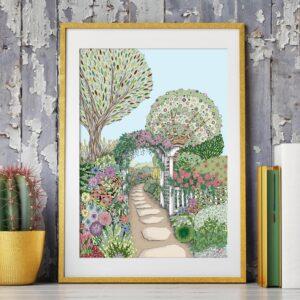 Gentangle Designs, A4 Secret Garden Print