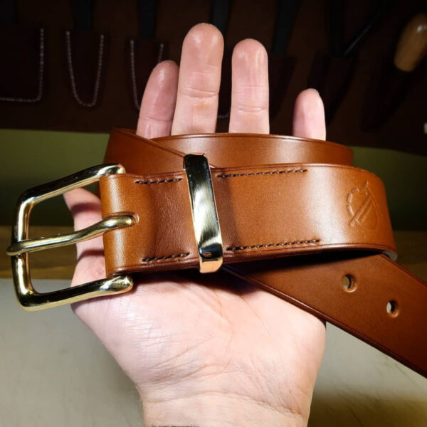 Oliver Foulds, Tunner belt in mid brown leather