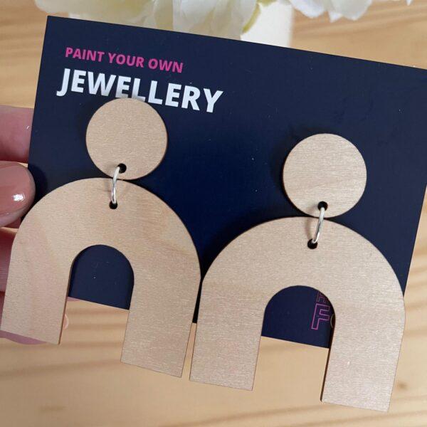 Paint your own drop earrings