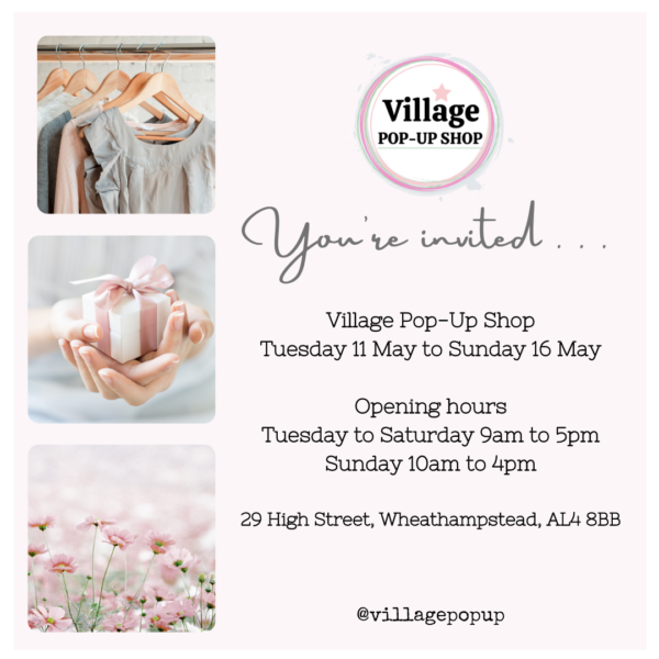 You are invited. Village Pop-Up Shop