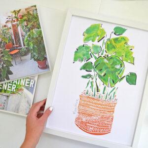 STCreativedesigns Cheeseplant Art Print