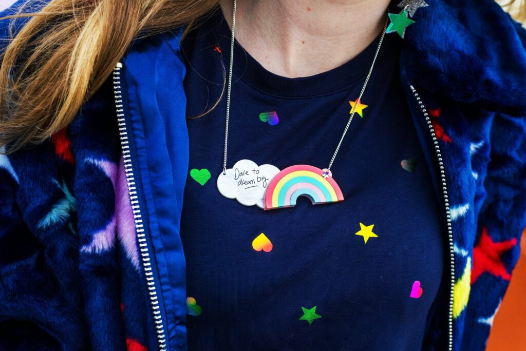dare to dream big rainbow necklace, just daydreaming