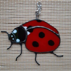 stained glass ladybird to hang up