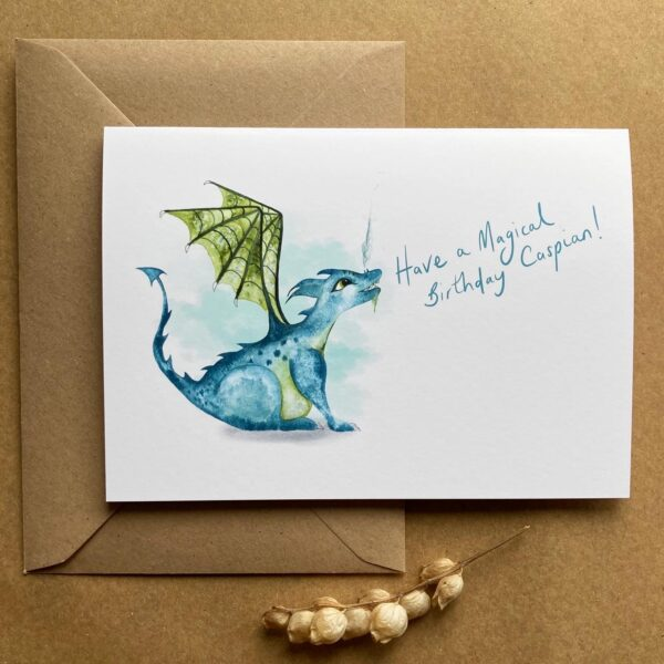 Blue baby dragon