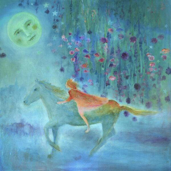 Kate Van Suddese Artist,A Sky Full Of Flowers original painting