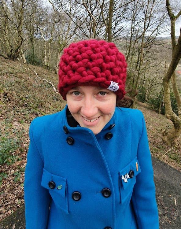 Scruffy Dog Creations, Mega Chunky Headband, Crochet, Handmade, Burgandy