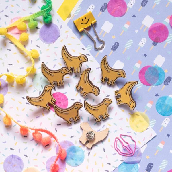 Moo and Snip, Animal pins