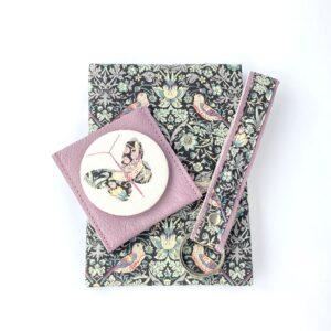Teazle Handmade Liberty Notebook keyring mirror giftset