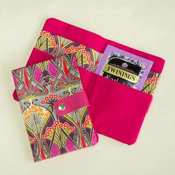 Teazle Handmade Liberty fabric teabag wallet