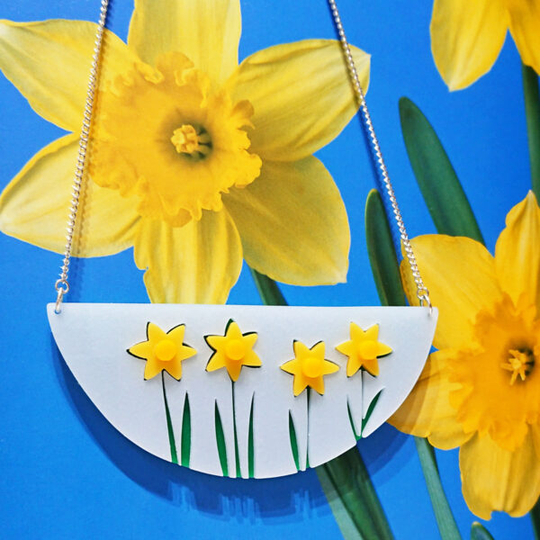 Daffodil statement necklace