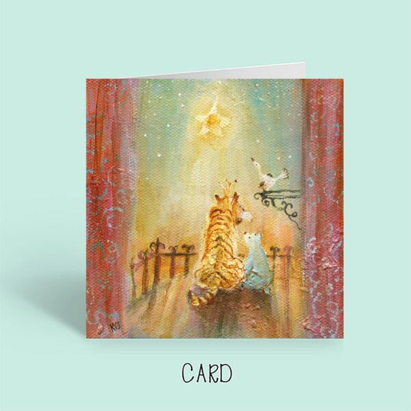 Kate Van Suddese Artist, Star Gazing card