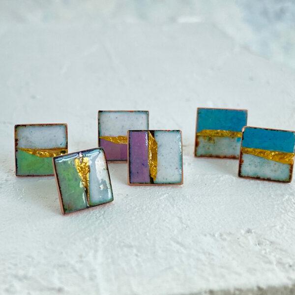 Square-enamel-stud-earrings-Katie-Johnston-jewellery