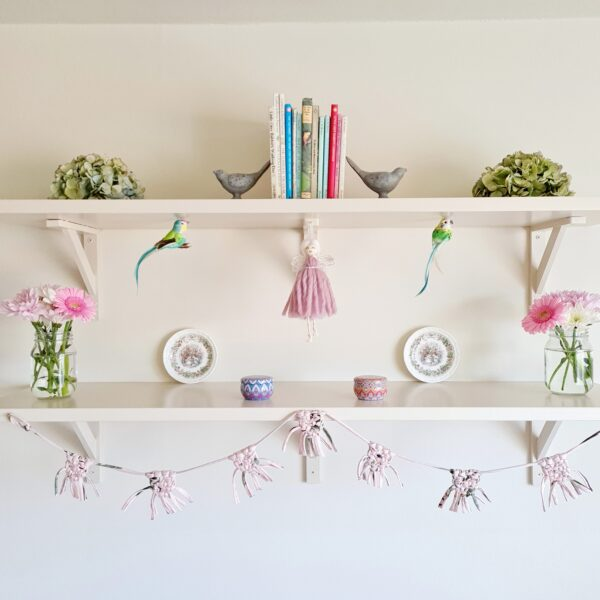 Dolly & Dot Creative, Pink Tooth Fairy hanging on shelf