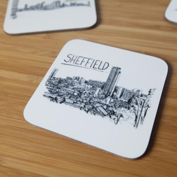Sheffield Skyline Drinks Coaster