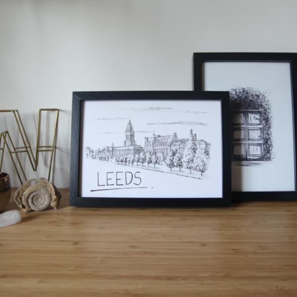 Leeds Skyline Wall Art Print