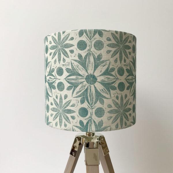 Cushie Doo Textiles Linen Lampshade Teal