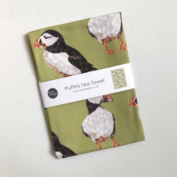 Romy Design Puffins Tea Towel
