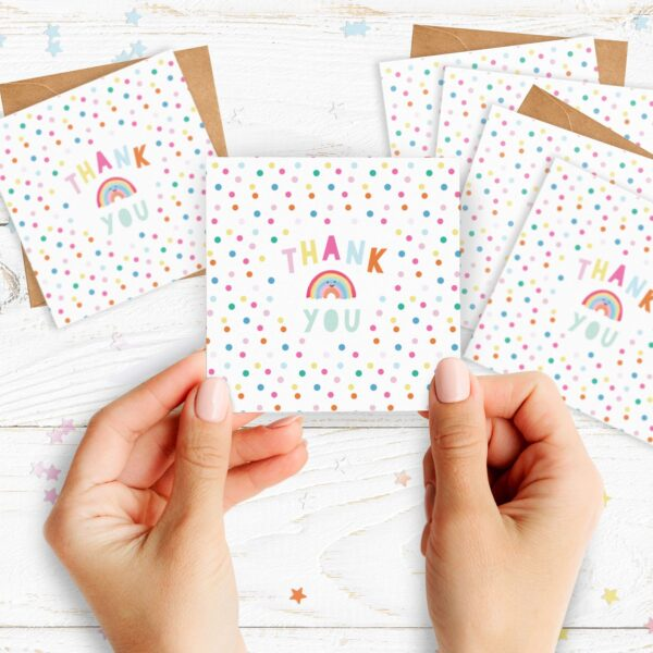 Hannah Jane Designs Co, Thank You Rainbow Cards