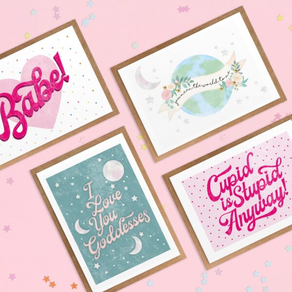 Hannah Jane Designs Co, Pack of Galentine's Postcards