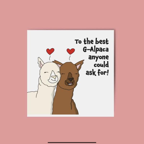 Alpaca Galentines Day Greeting Card
