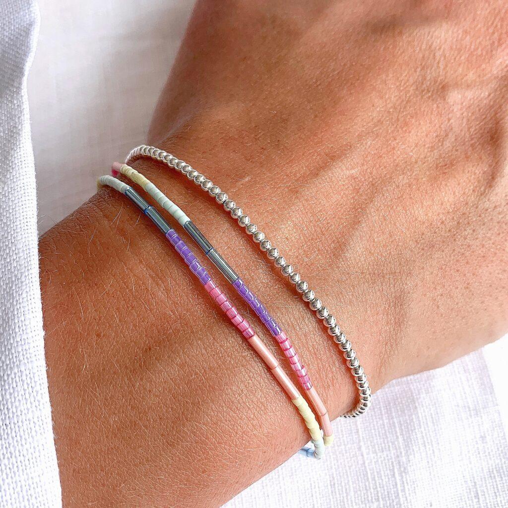 Hardy to Hudson, Rainbow and Silver Bracelets