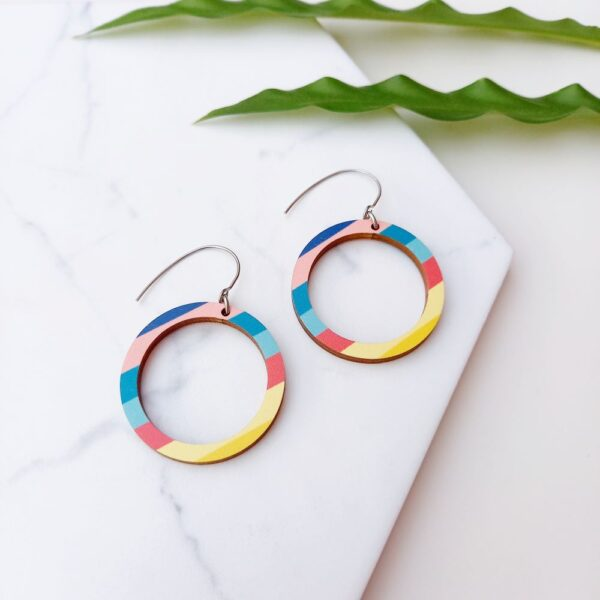 Big Florida from Colourful Florida earring collection Unique Ella Sustainable Jewellery