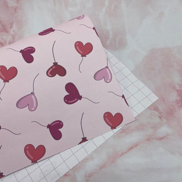 Pink and Red Heart shaped balloons as gift wrap