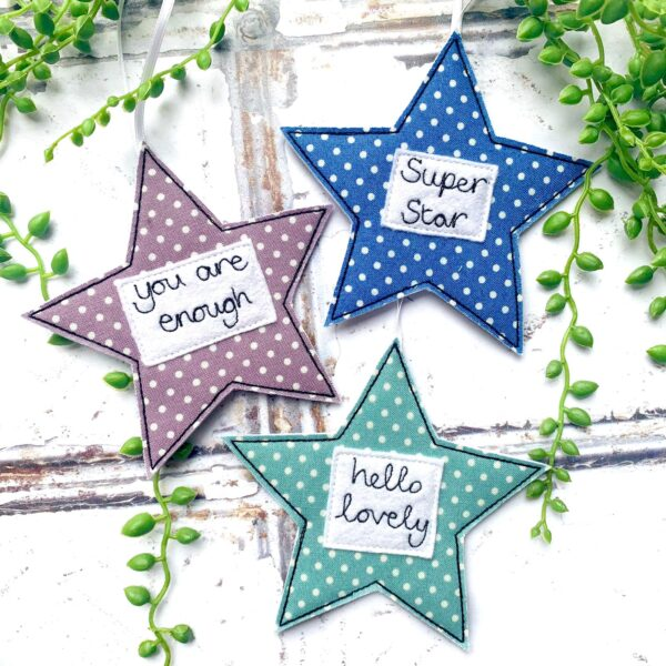 Tink&Reu   Personalised Fabric Star Decoration
