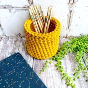 Tink&Reu | Mustard Crochet Pot