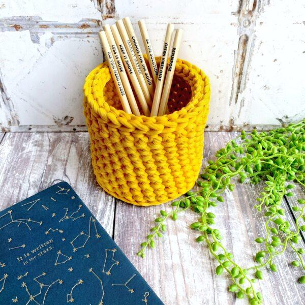 Tink&Reu   Mustard Crochet Pot