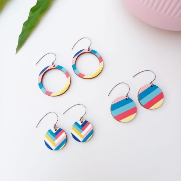 Colourful Florida earring collection Unique Ella Sustainable Jewellery