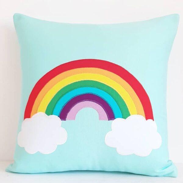 A Life Sew Simple, Bright Rainbow cushion