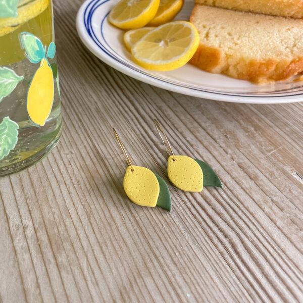 Lemon Hoop Earrings by Lemon Drops Design