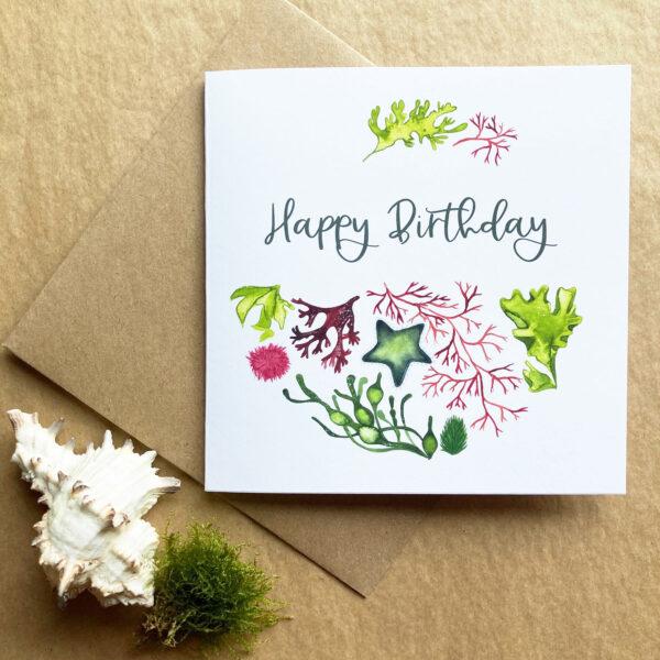 Seaweed Happy Birthday Card