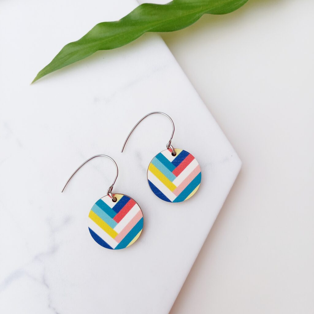 Key West Earrings from Colourful Florida earring collection Unique Ella Sustainable Jewellery