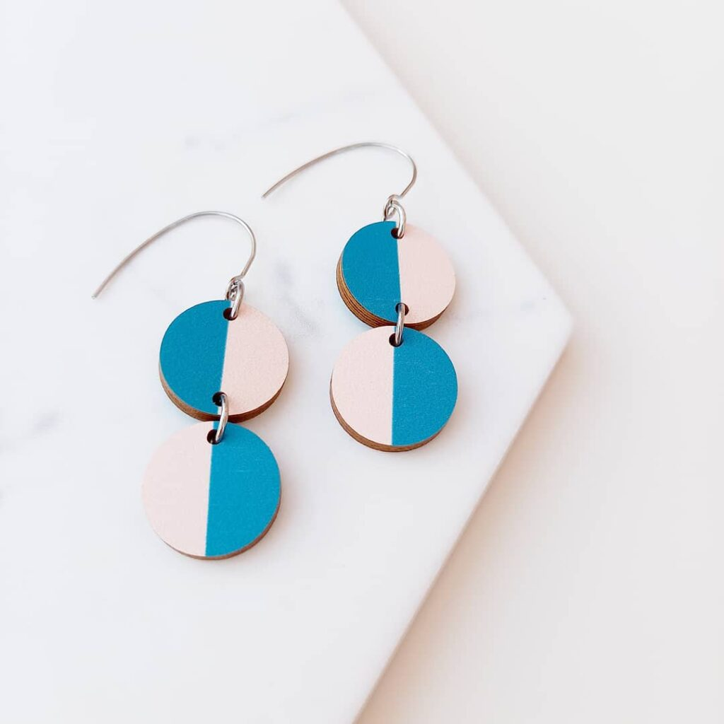 Miami from Colourful Florida earring collection Unique Ella Sustainable Jewellery