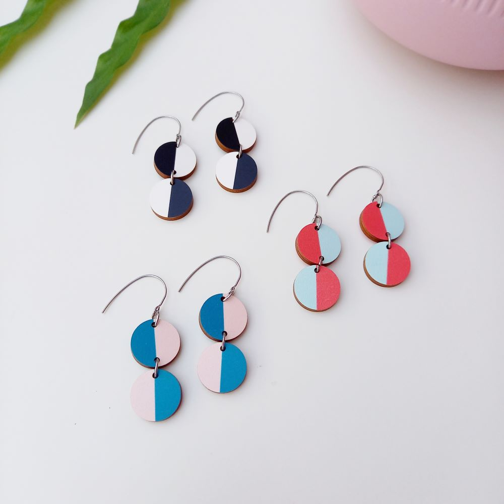 Miami Earrings from Colourful Florida earring collection Unique Ella Sustainable Jewellery