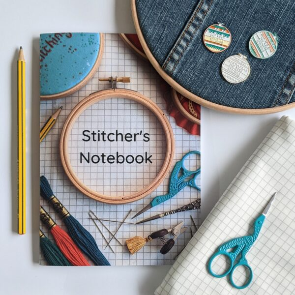 Little Light Stitchery The Stitchers Notebook. An A5 notebook used for recording embroidery hoop designs