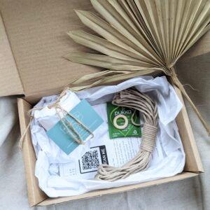 Create Space, a look inside the Mini Plant Hanger Kit. All the equipment to make your own macrame plant hanger.