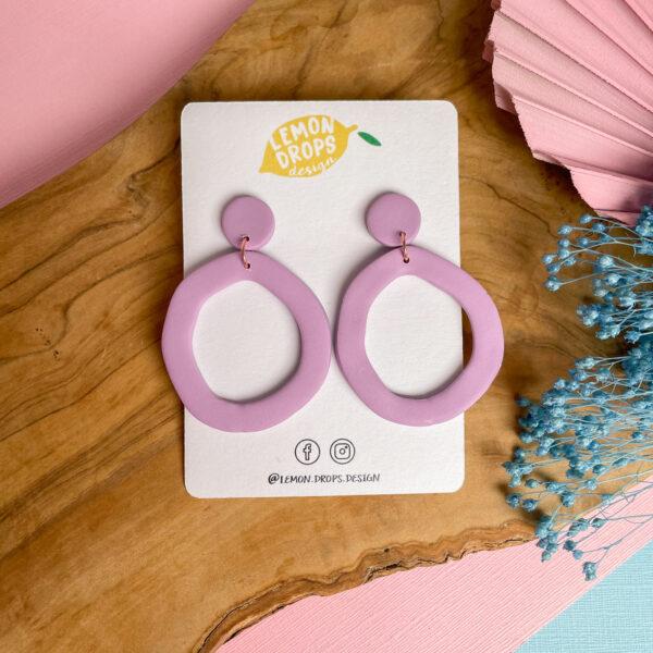 Essential Hoop Drop Earrings from Lemon Drops Design