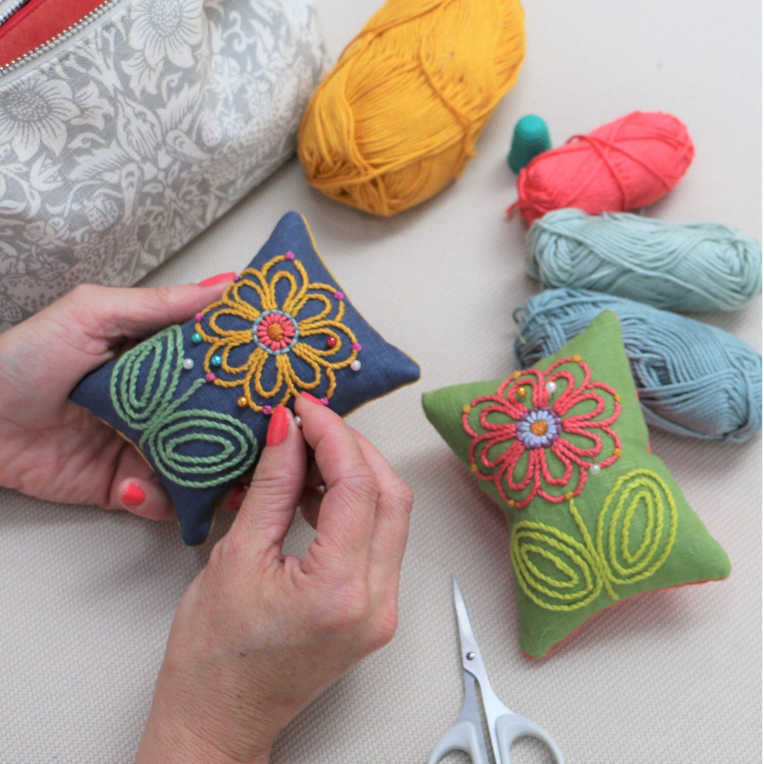 AdaBrown Designs Linen Pin Cushions
