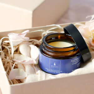 Rose and Frankincense Facial Cleansing Balm and Muslin Cloth Gift Set