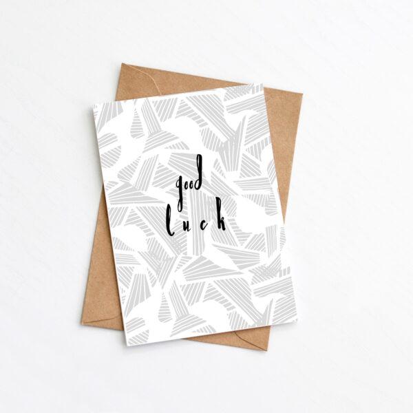 Greenwich Paper Studio, Modern Good Luck Card
