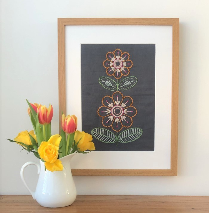 AdaBrown Designs Embroidered wall art.