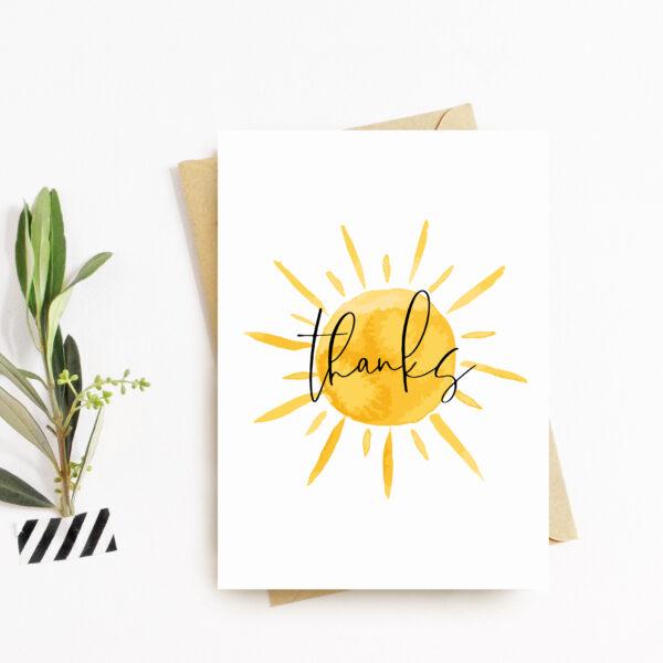 Thanks Sunshine Greeting Card