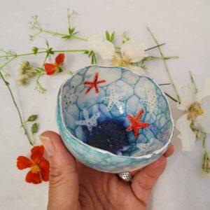 Cherryloftstudio semi-porcelain starfish bowl.